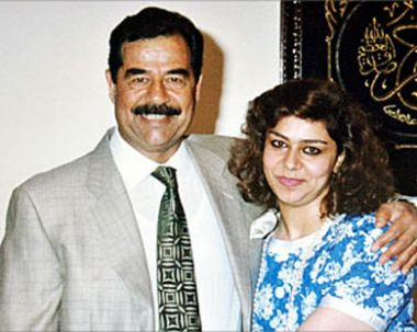 """الله اكبر:انباء عير مؤكدة عن وفاة """"ساجدة طلفاح"""" زوجة الشهيد صدام حسين Raghad_with_her_father_saddam"""